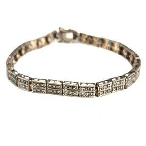 Ross Simons Sterling Faux Marcasite Bracelet